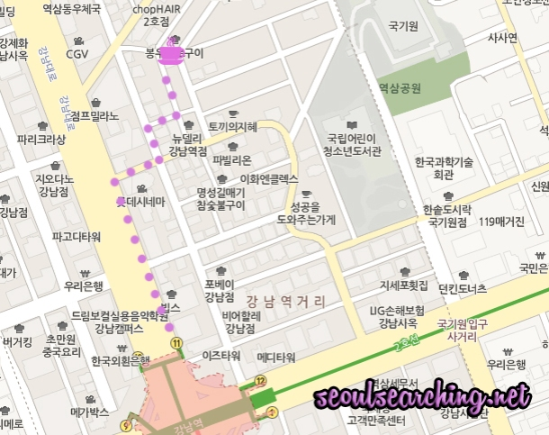 Caffe 꽃을 피우고 Map