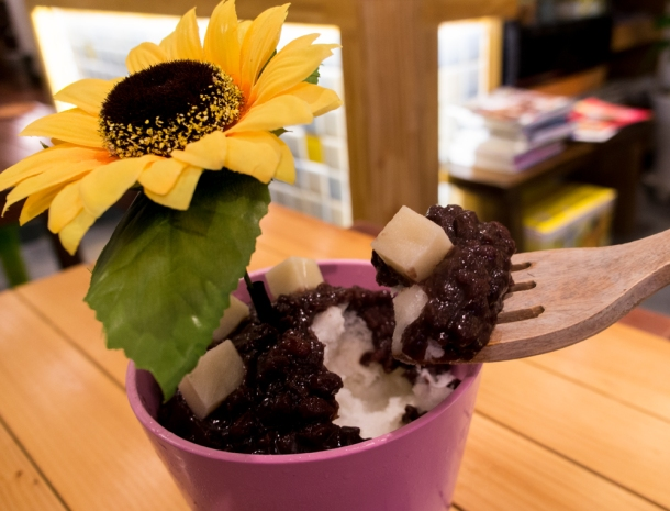 Flower Bingsu Inside