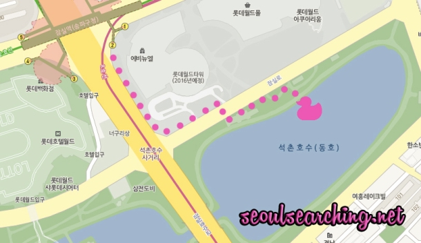 Seokchon Lake Map