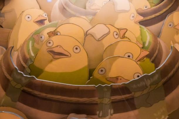Bathing Chicks
