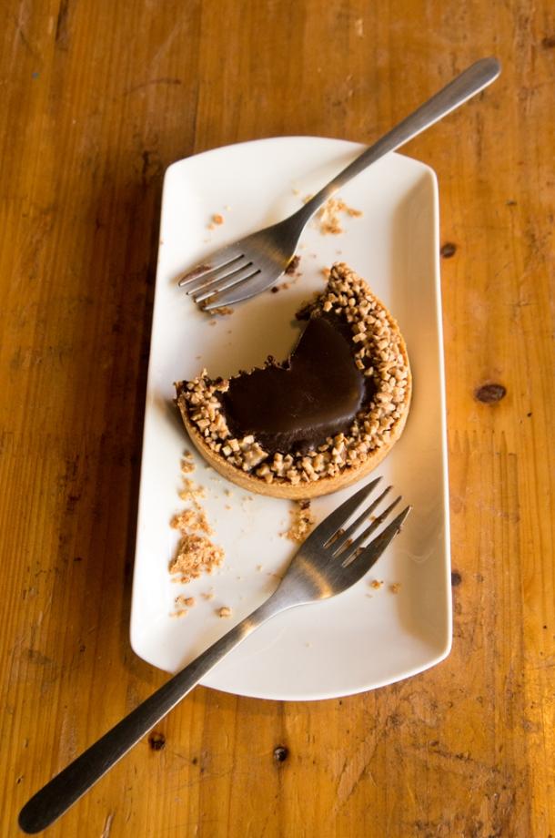 Dark Cherry Chocolate Tart (dessert for 2)