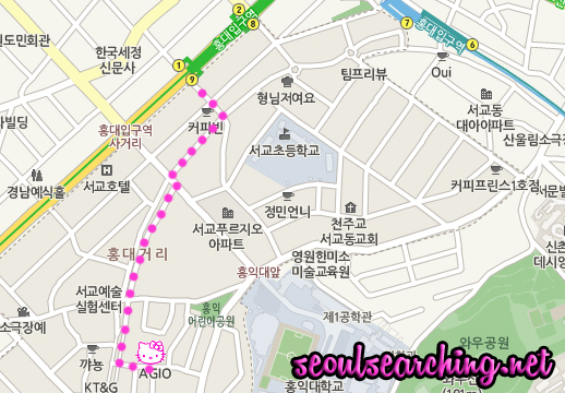 NEW Hello Kitty Cafe Map