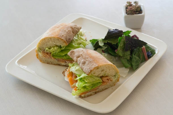 Salmon Sandwich (closeup)