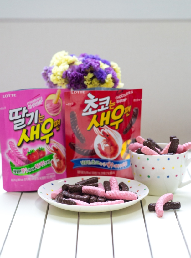 Chocolate & Strawberry Shrimp Chips