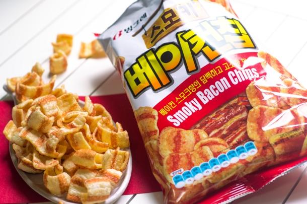 Korean Snacks Bacon Chips