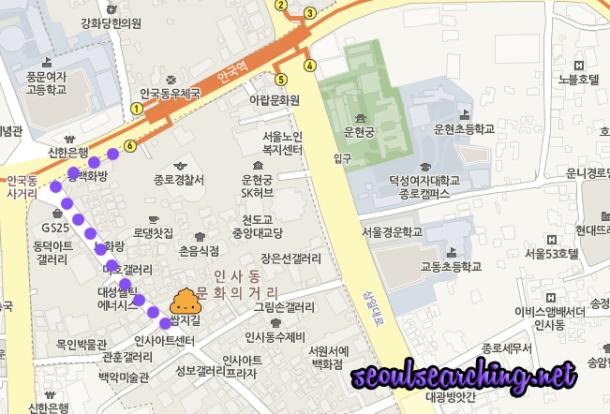 또옹카페 Map