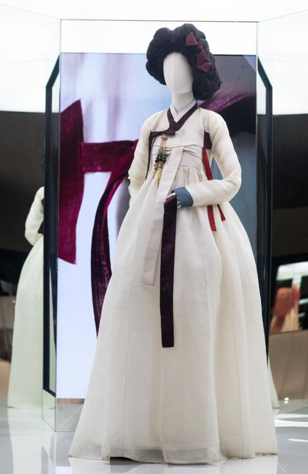 White & Red Hanbok