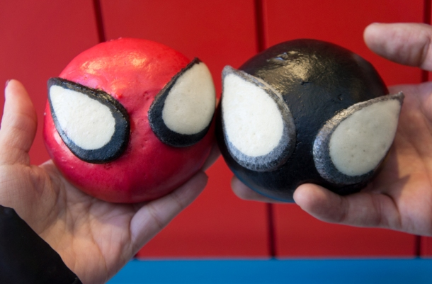 Spiderman Steamed Buns