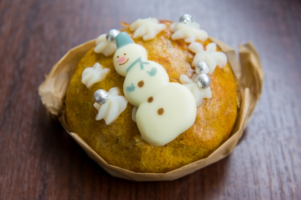 Christmas Baked Sweet Potato Snowman