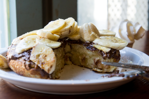Nutella Banana Pancake (Inside)