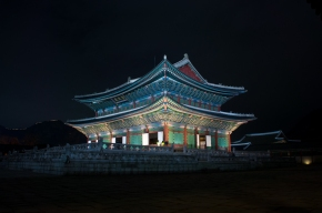 Korean Palaces by Moonlight