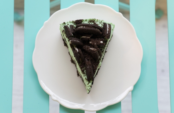 Mint Oreo Cheesecake (top)