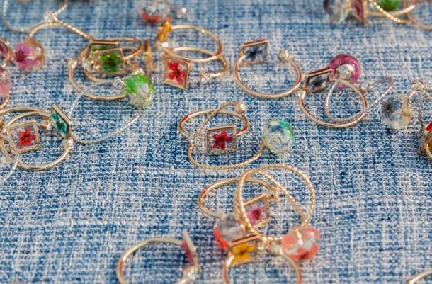 Pressed Flower Rings