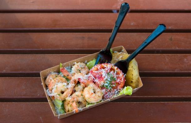 Hawaiian pineapple shrimp